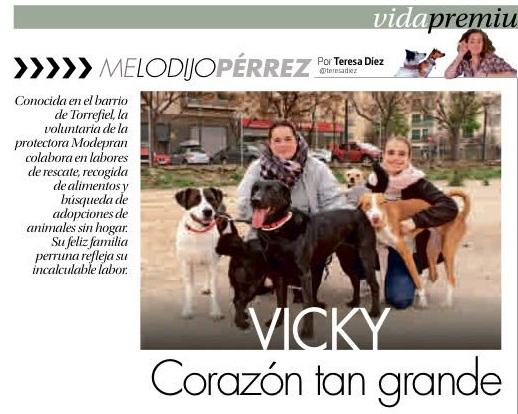 Reportaje a nuestra voluntaria Vicky en la revista Urban VLC